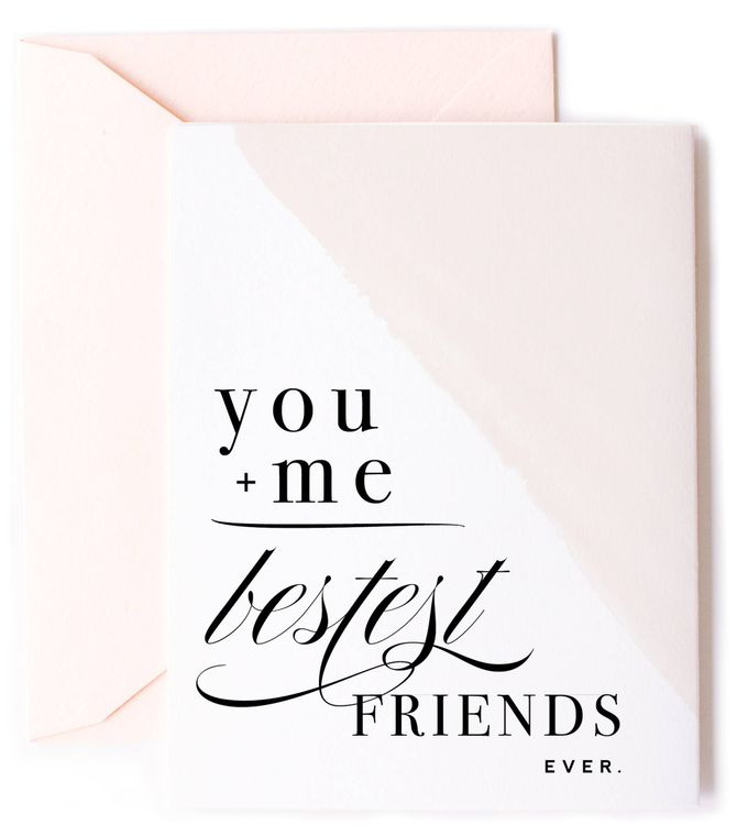 You + Me Equals Bestest Friends Card - Friendship Card