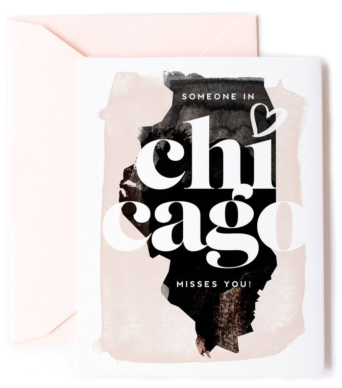 Someone In Chicago, Illinois Misses You - Love Card