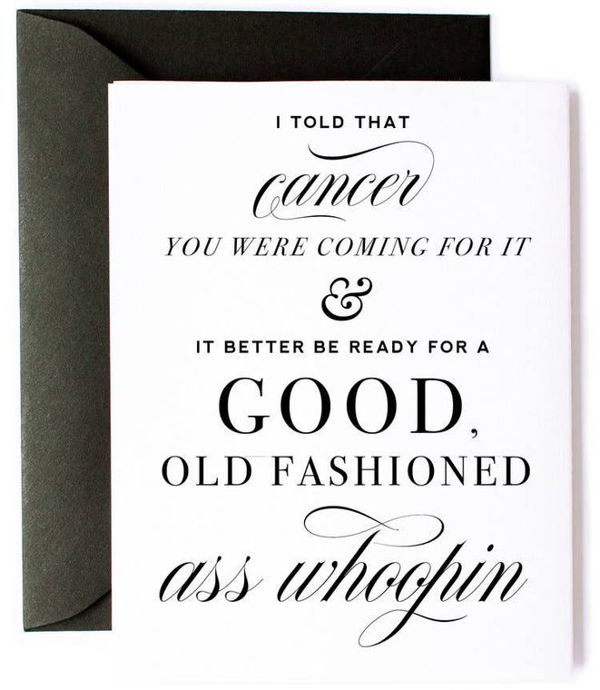 Beat Cancer, Get Well Card, Cancer Encouragement Card