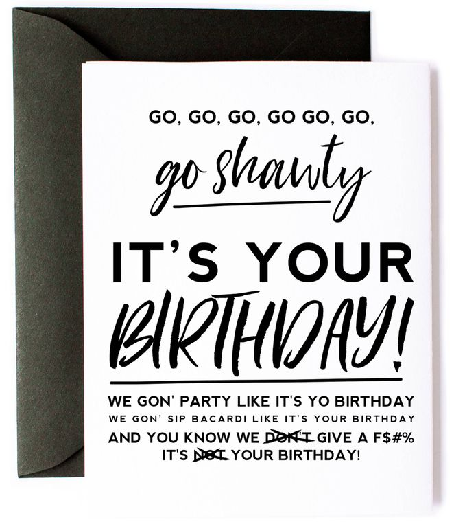 50 Cent Party Like It's Your Birthday Card
