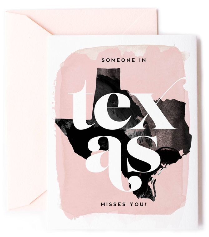Someone In Texas Misses You - Love Card