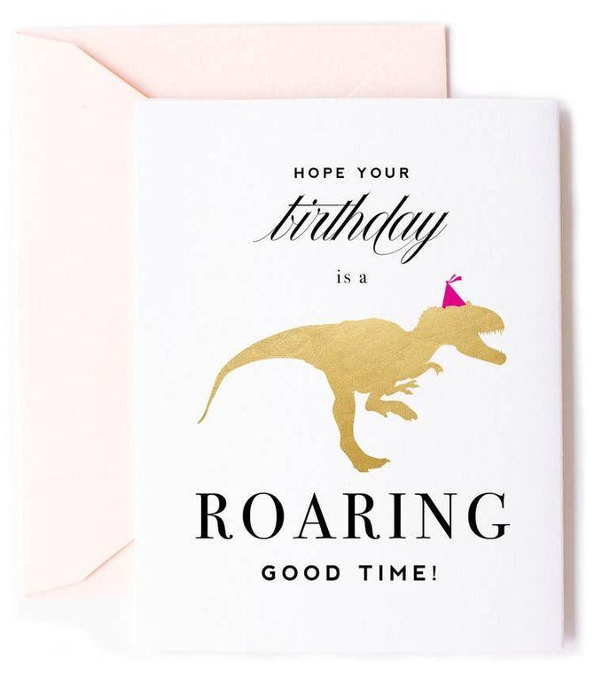 Roaring Good Time, Dinosaur Birthday Card