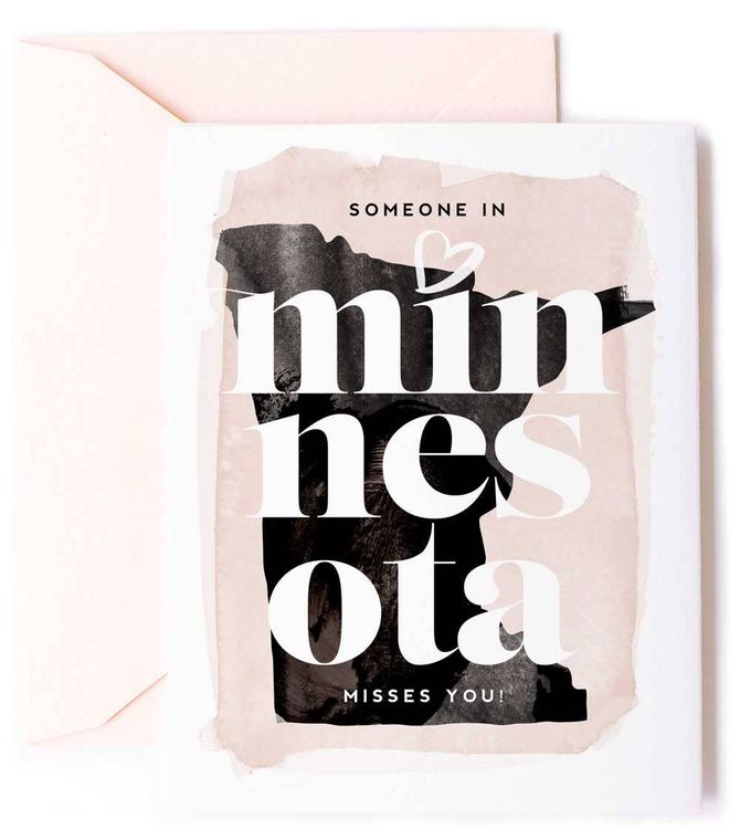 Someone In Minnesota Misses You - Love Card