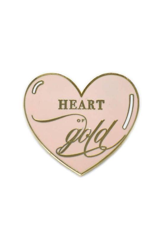 Heart of Gold, Inspirational Enamel Pin