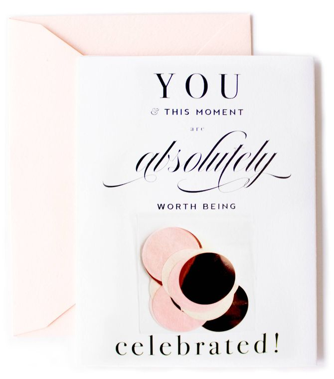 Absolutely Worth Being Celebrated Confetti Card