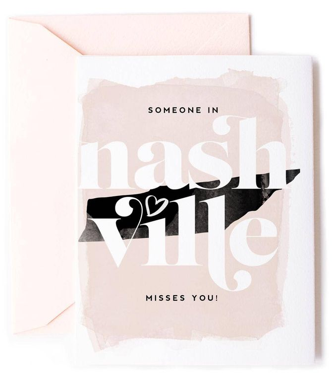 Someone In Nashville, Tennessee Misses You - Love Card
