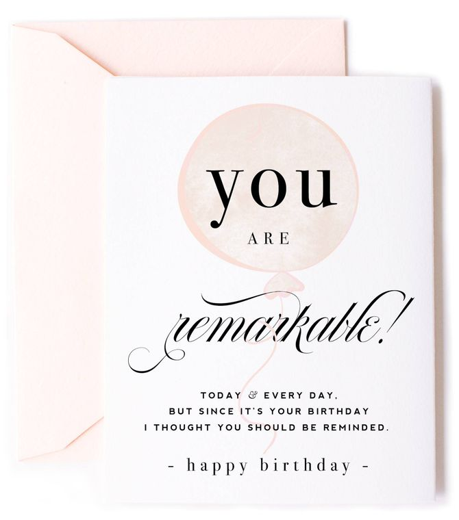 You Are Remarkable Birthday Card - Balloon Birthday Card