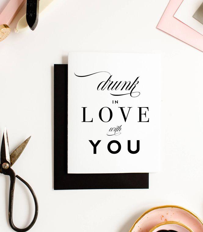Drunk In Love Card, Funny Love Card & Anniversary Card