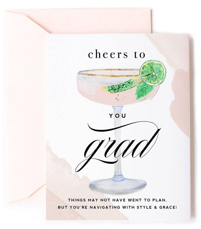 Cheers to you Grad - Style & Grace Graduation Card