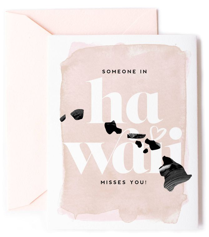 Someone In Hawaii Misses You - Love Card