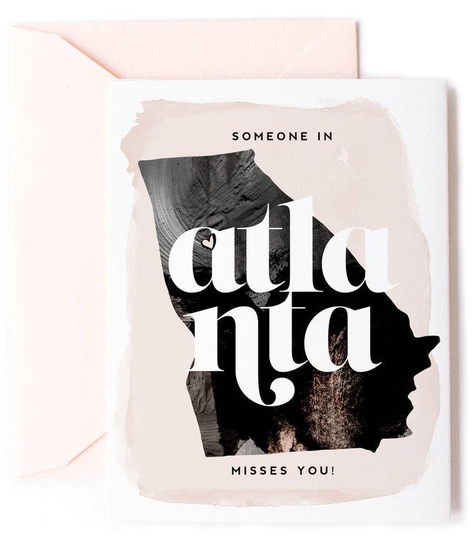 Someone In Atlanta, Georgia Misses You - Love Card