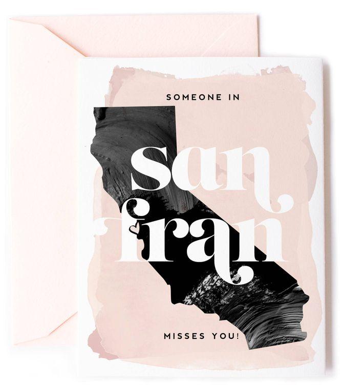 Someone In San Fran, CA Misses You - Love Card