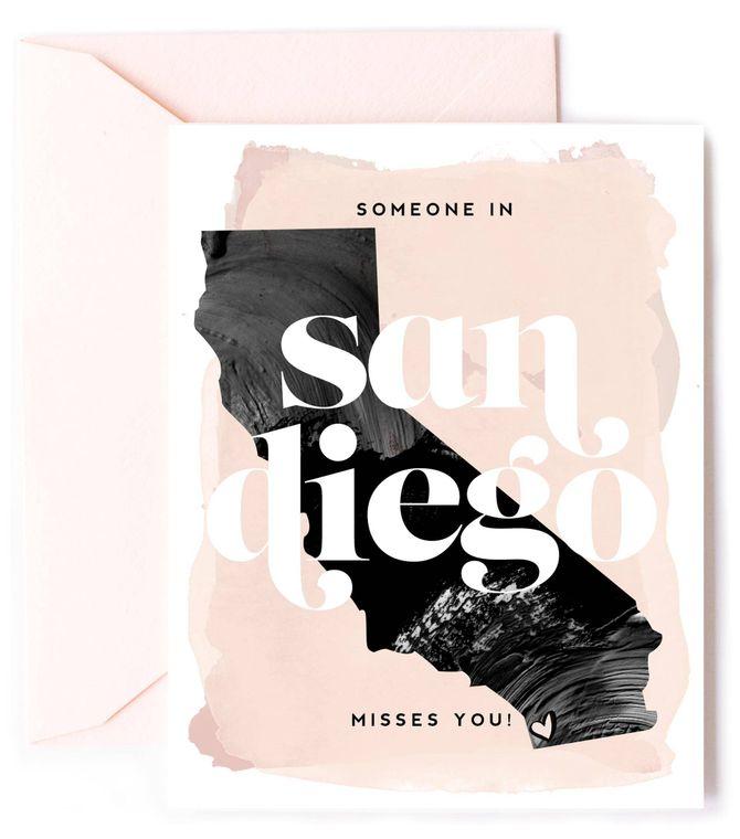 Someone In San Diego Misses You - Californi Love Card