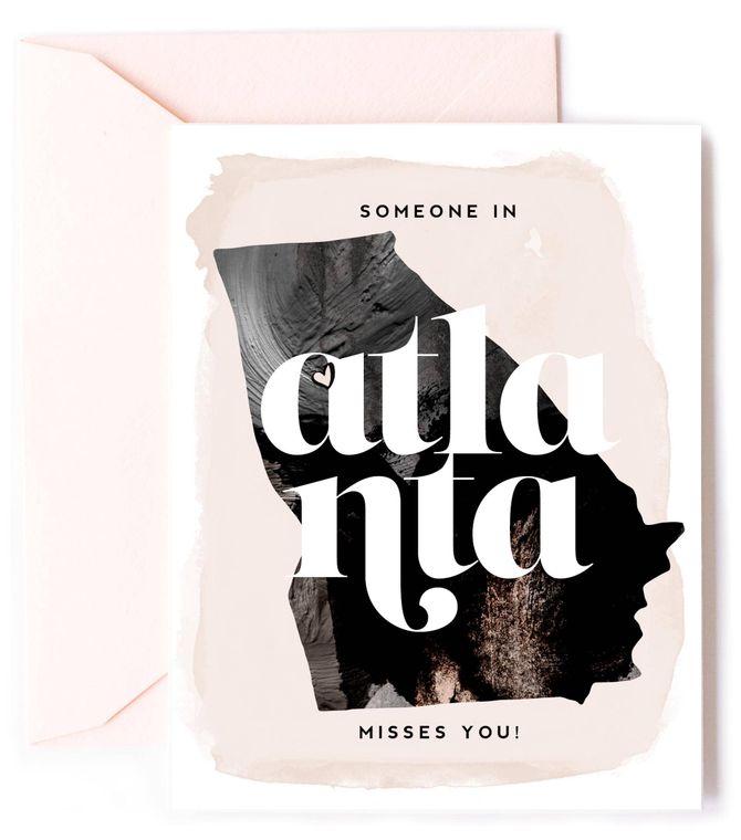 Someone In Atlanta Misses You - Love Card