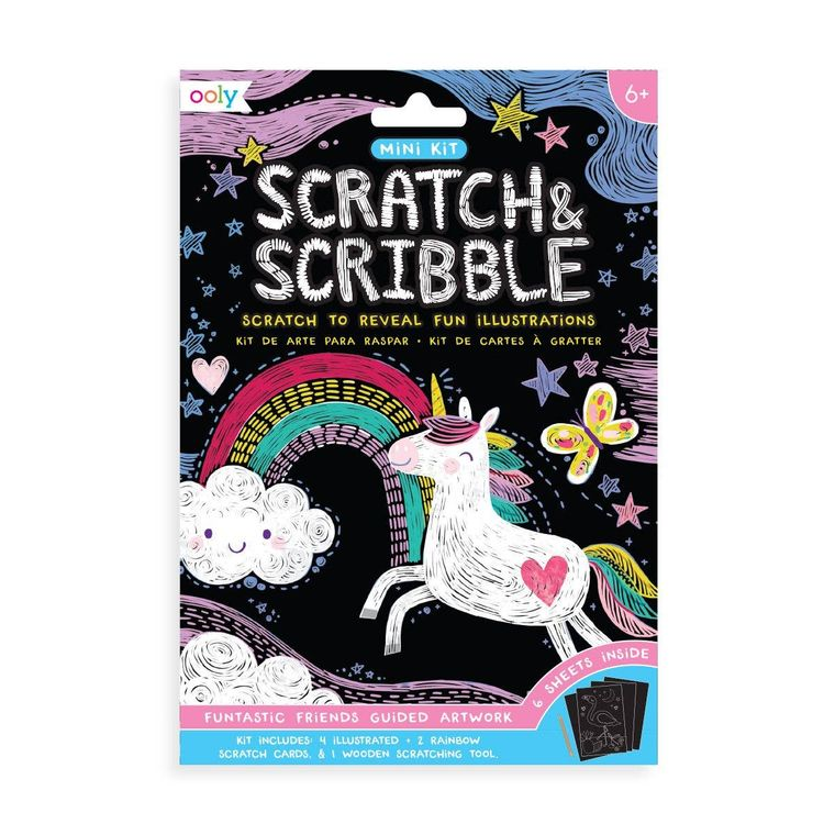 161-043 Mini Scratch & Scribble Art Kit: Funtastic Friends