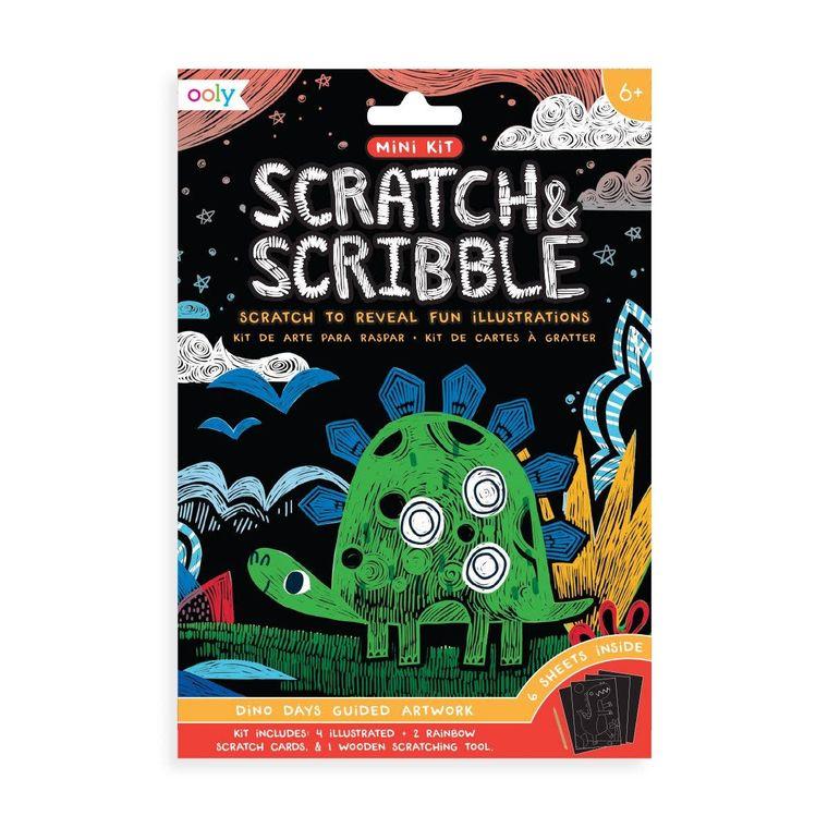 Mini Scratch & Scribble Art Kit: Dino. Days