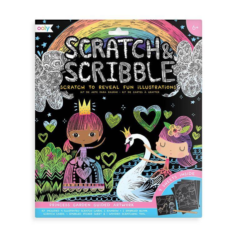 Scratch & Scribble Art Kit: Princess Garden