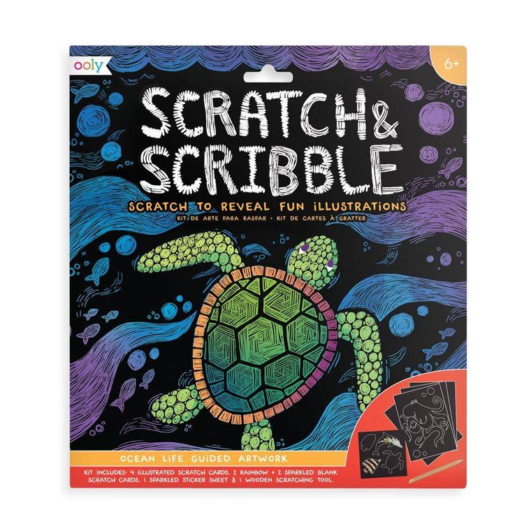 Scratch & Scribble - Ocean Life