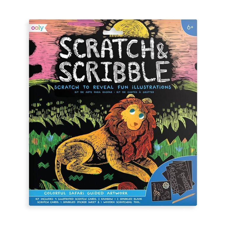 Scratch & Scribble - Colorful Safari