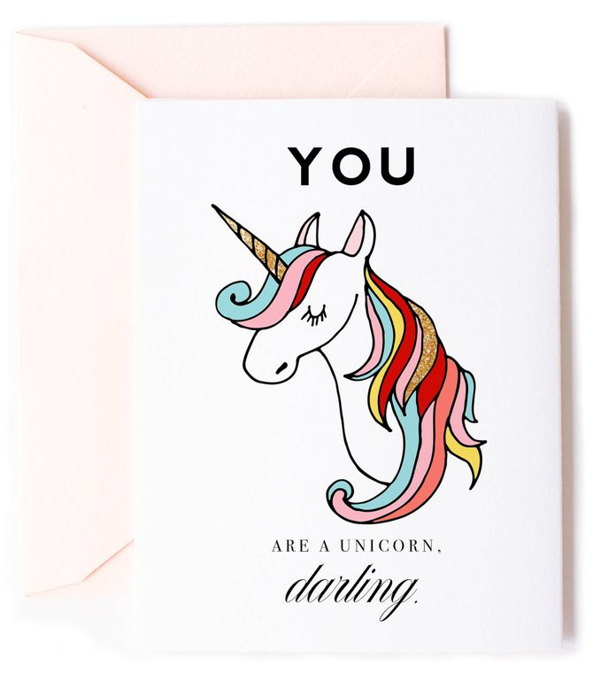 You are a Unicorn Darling Card