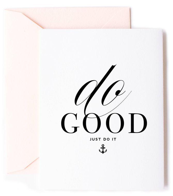 Do Good Anchor Encouragement Card & Friendship Card