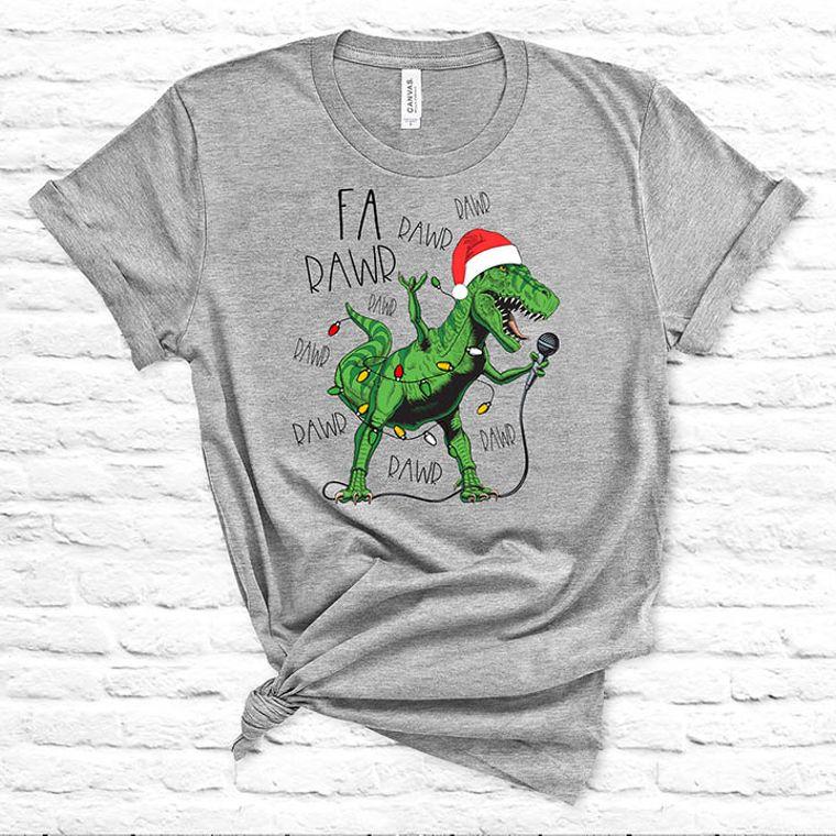 Fa Rawr Rawr T-Rex Dinosaur Funny Chiristmas T-shirt