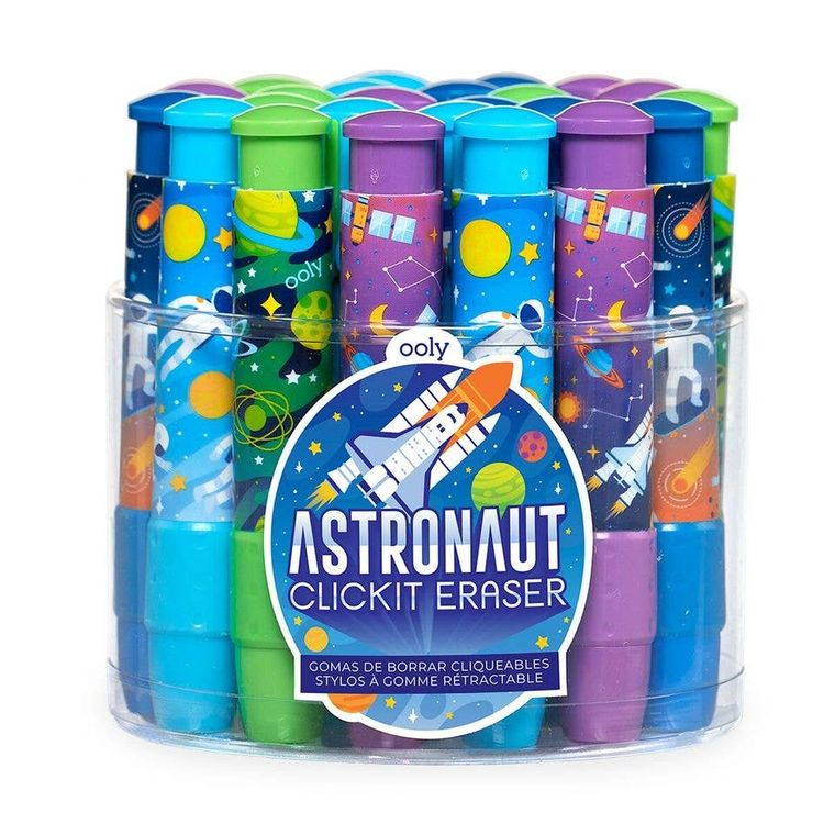 Click-It Erasers : Astronaut Tub of 24