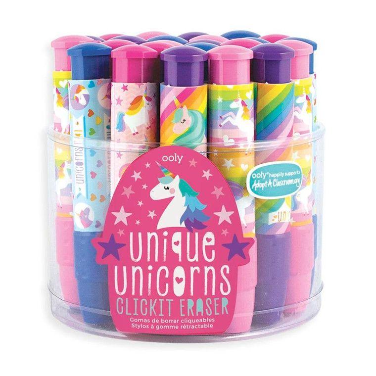 Click-It Unique Unicorn Erasers Tub of 24