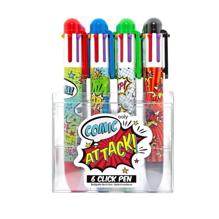 6 Click Pens - Comic Attack