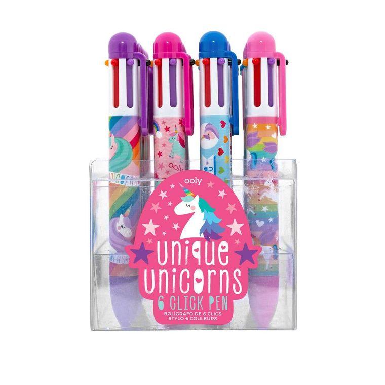 6 Click Pens - Unique Unicorn