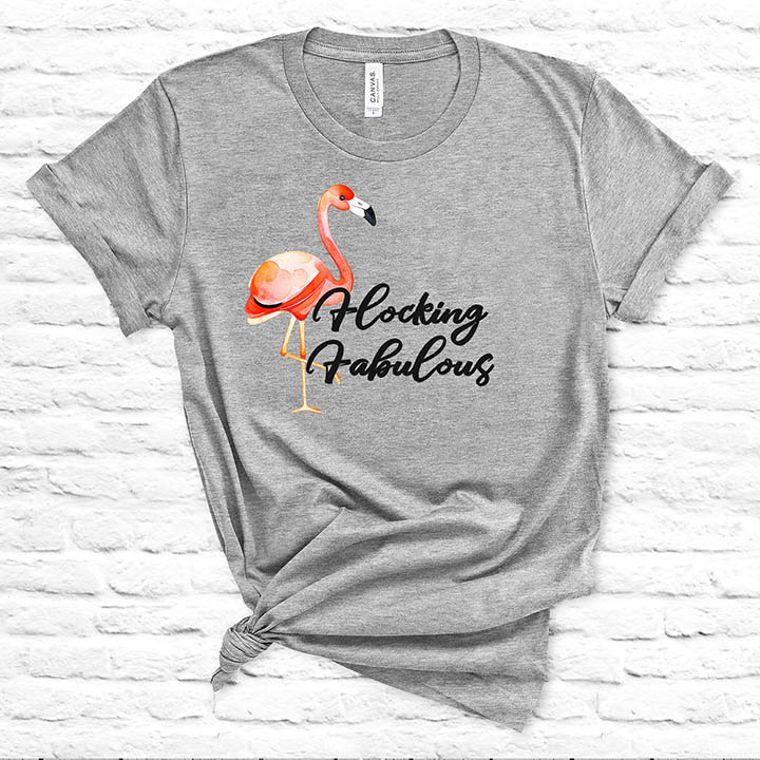 Flocking Fabulous Funny Flamingo T-shirt