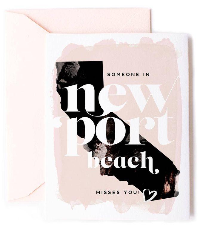 Someone In Newport Beach, California Misses You - Love Card