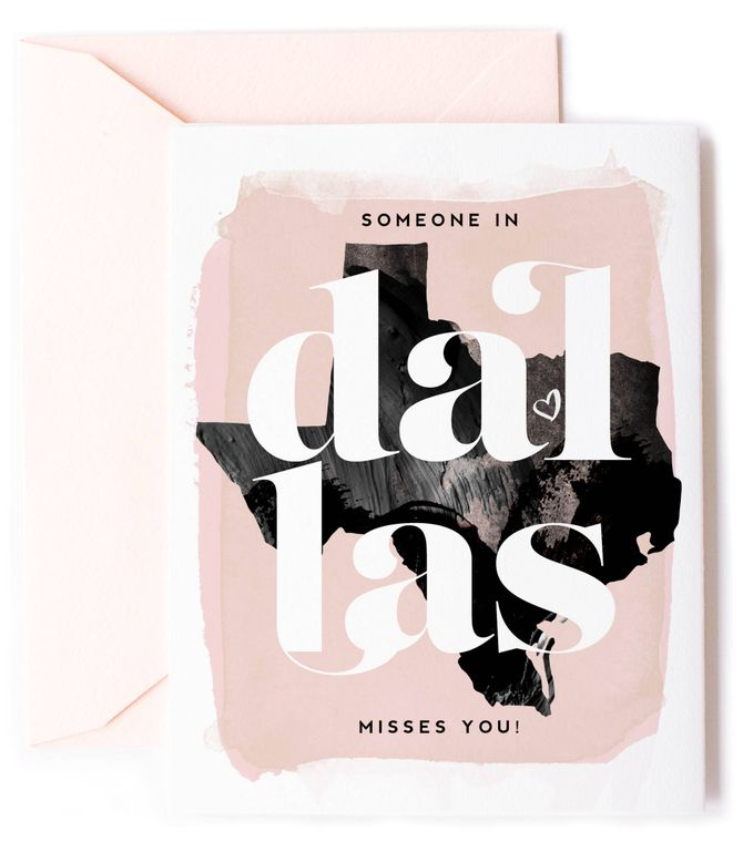 Someone In Dallas, Texas Misses You - Love Card