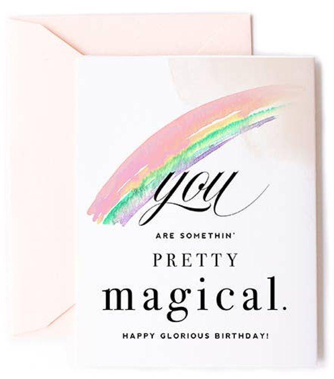 You Are Magical Rainbow Birthday Card