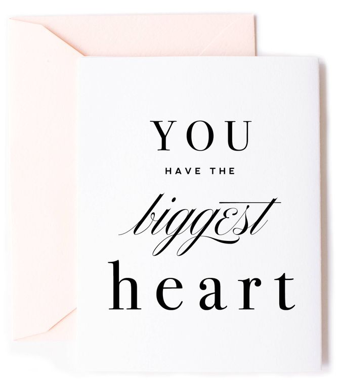 You have the Biggest Heart Card - Love Greeting Card & Friendship Card