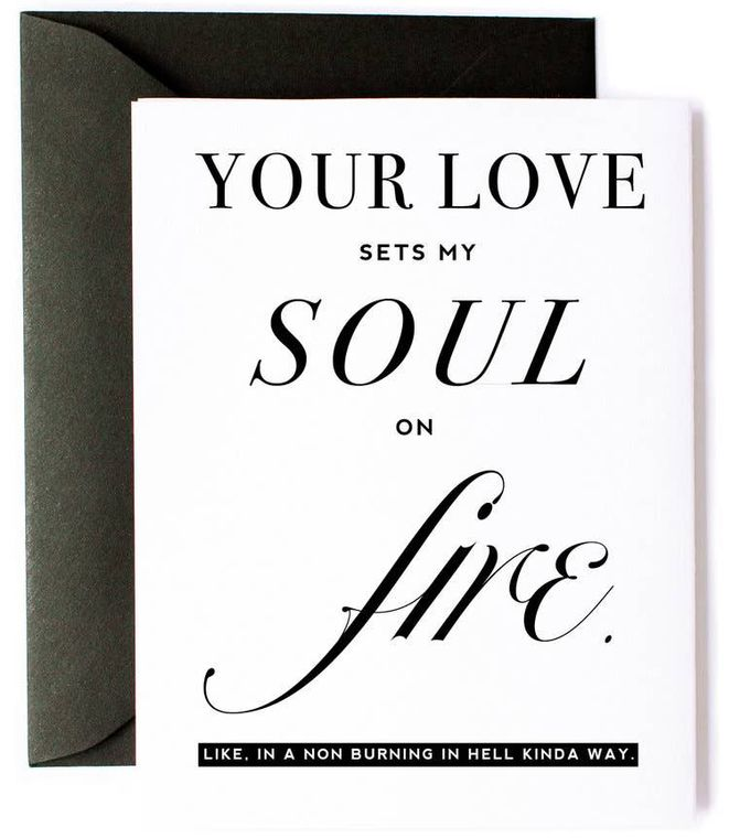 Sets My Soul on Fire Love Card
