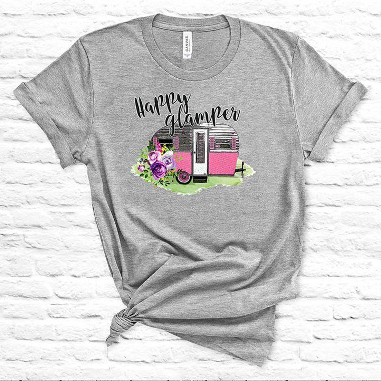 Happy Glamper Vintage Camper T-shirt