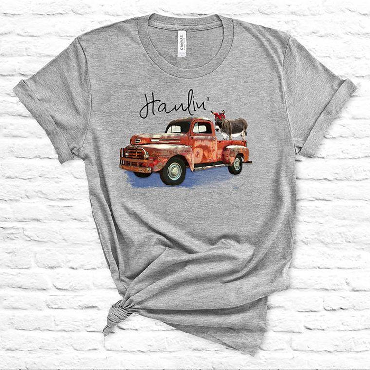 Haulin' Ass Vintage Truck Donkey T-shirt