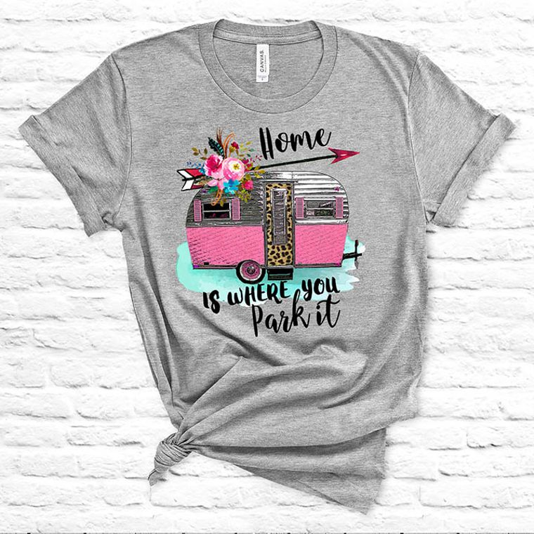Home is Where you Park it Vintage Camper T-shirt