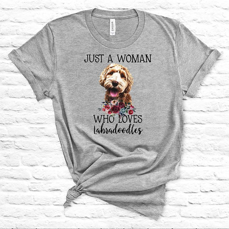 Just a Woman Who Loves Golden Doodles T-shirt