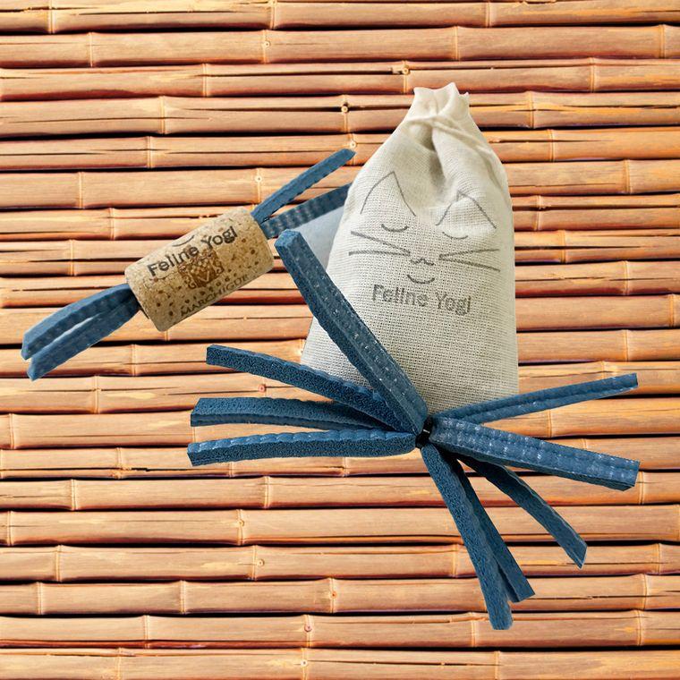 Slate Blue Yoga Cat Toy Gift Set