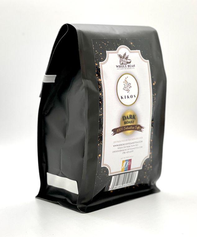 10 oz Kikos Colombian Coffee - Dark Roast - Whole Bean
