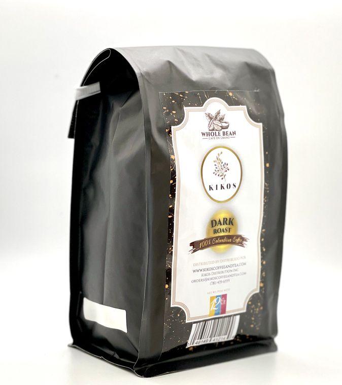 12 oz Kikos Colombian Coffee - Dark Roast - Whole Bean