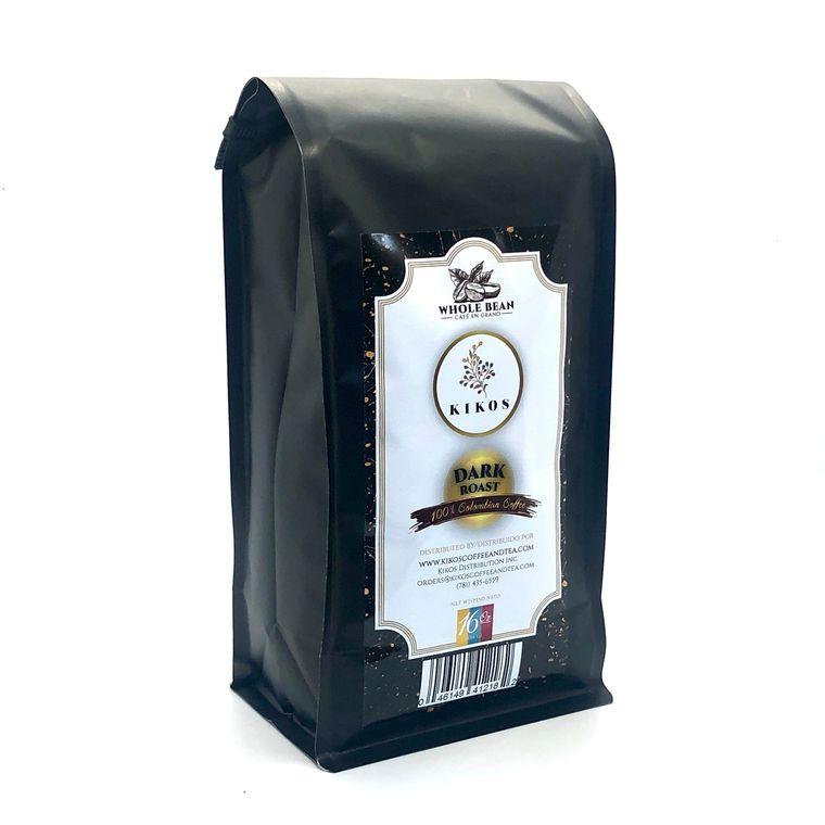 16 oz Kikos Colombian Coffee - Dark Roast - Whole Bean Coffee