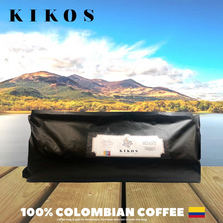 5 Lb Kikos Colombian Coffee - Dark Roast - Ground