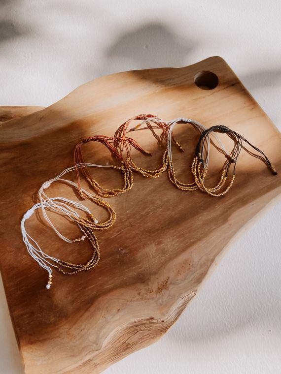 Terra Layered Bracelets in Gold