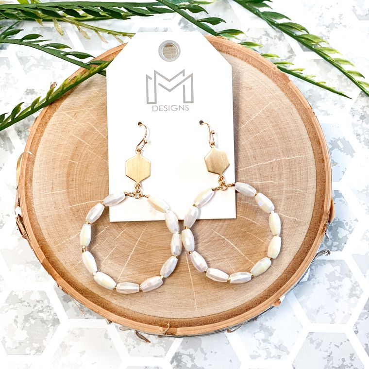 Trently Earrings - Ivory