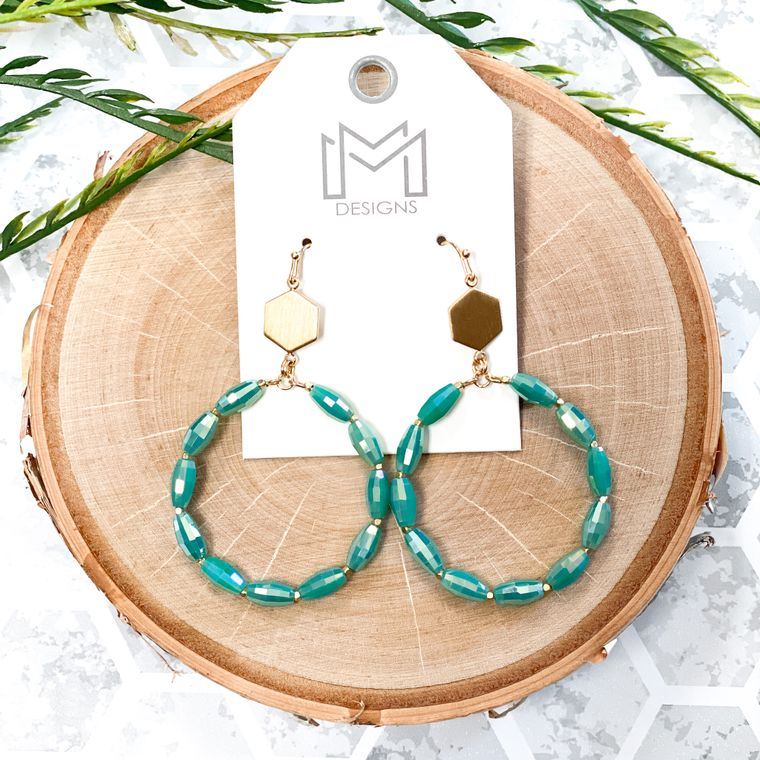 Trently Earrings - Turquoise