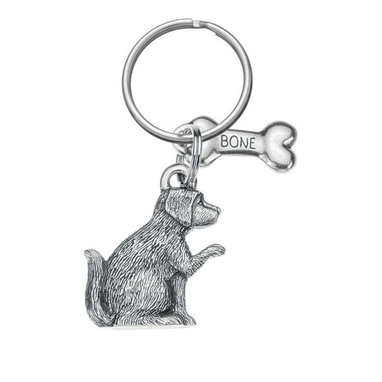 Dog & Bone Keyring