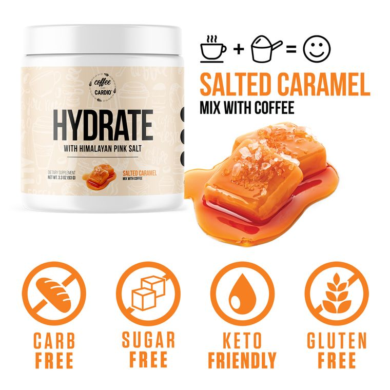 Hydrate- Electrolyte for Coffee- Salted Caramel